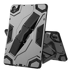Custodia Silicone e Plastica Opaca Cover con Supporto A02 per Huawei MediaPad M6 10.8 Nero
