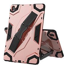 Custodia Silicone e Plastica Opaca Cover con Supporto A02 per Huawei MediaPad M6 10.8 Oro Rosa