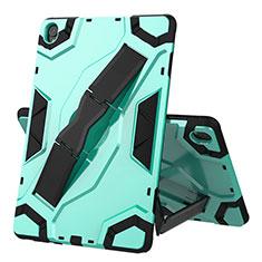 Custodia Silicone e Plastica Opaca Cover con Supporto A02 per Huawei MediaPad M6 10.8 Verde