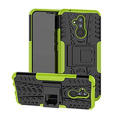 Custodia Silicone e Plastica Opaca Cover con Supporto A03 per Huawei Mate 20 Lite Verde
