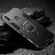 Custodia Silicone e Plastica Opaca Cover con Supporto A03 per Huawei P20 Lite Nero