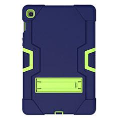 Custodia Silicone e Plastica Opaca Cover con Supporto A03 per Samsung Galaxy Tab S5e 4G 10.5 SM-T725 Blu