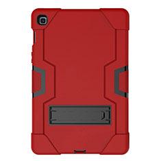 Custodia Silicone e Plastica Opaca Cover con Supporto A03 per Samsung Galaxy Tab S5e 4G 10.5 SM-T725 Rosso