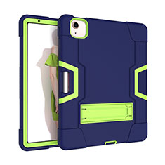 Custodia Silicone e Plastica Opaca Cover con Supporto per Apple iPad Air 10.9 (2020) Verde