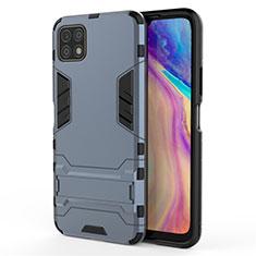 Custodia Silicone e Plastica Opaca Cover con Supporto per Huawei Enjoy 20 5G Blu