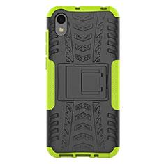 Custodia Silicone e Plastica Opaca Cover con Supporto per Huawei Enjoy 8S Verde