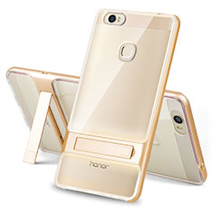 Custodia Silicone e Plastica Opaca Cover con Supporto per Huawei Honor Note 8 Oro