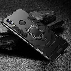 Custodia Silicone e Plastica Opaca Cover con Supporto per Huawei Honor View 10 Lite Nero