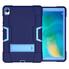 Custodia Silicone e Plastica Opaca Cover con Supporto per Huawei MatePad 10.8 Blu