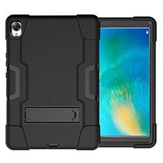 Custodia Silicone e Plastica Opaca Cover con Supporto per Huawei MatePad 10.8 Nero
