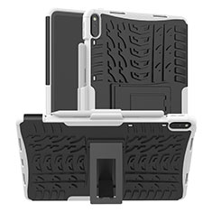 Custodia Silicone e Plastica Opaca Cover con Supporto per Huawei MatePad Pro Argento