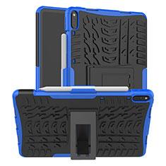Custodia Silicone e Plastica Opaca Cover con Supporto per Huawei MatePad Pro Blu
