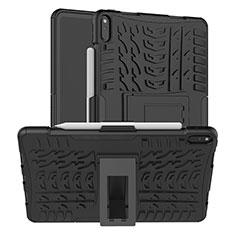 Custodia Silicone e Plastica Opaca Cover con Supporto per Huawei MatePad Pro Nero