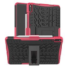 Custodia Silicone e Plastica Opaca Cover con Supporto per Huawei MatePad Pro Rosa