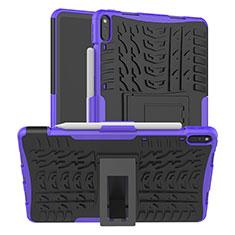 Custodia Silicone e Plastica Opaca Cover con Supporto per Huawei MatePad Pro Viola