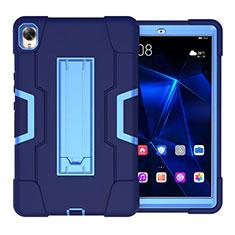 Custodia Silicone e Plastica Opaca Cover con Supporto per Huawei MediaPad M6 8.4 Blu