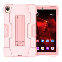 Custodia Silicone e Plastica Opaca Cover con Supporto per Huawei MediaPad M6 8.4 Rosa