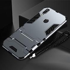 Custodia Silicone e Plastica Opaca Cover con Supporto per Huawei Nova Lite 3 Grigio