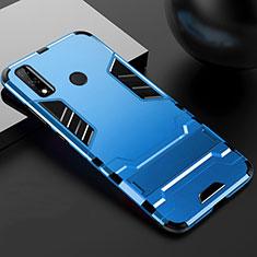 Custodia Silicone e Plastica Opaca Cover con Supporto per Huawei Y8s Blu