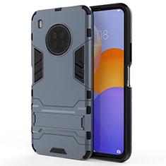Custodia Silicone e Plastica Opaca Cover con Supporto per Huawei Y9a Blu
