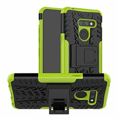 Custodia Silicone e Plastica Opaca Cover con Supporto per LG G8 ThinQ Verde