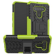 Custodia Silicone e Plastica Opaca Cover con Supporto per LG K51 Verde