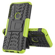 Custodia Silicone e Plastica Opaca Cover con Supporto per Motorola Moto G Power Verde