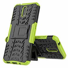 Custodia Silicone e Plastica Opaca Cover con Supporto per Nokia 2.3 Verde