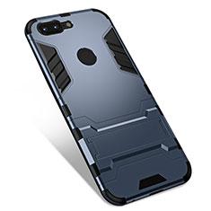 Custodia Silicone e Plastica Opaca Cover con Supporto per OnePlus 5T A5010 Grigio