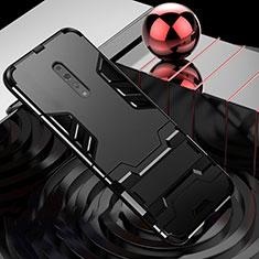 Custodia Silicone e Plastica Opaca Cover con Supporto per Oppo Reno Z Nero