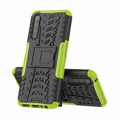 Custodia Silicone e Plastica Opaca Cover con Supporto per Realme 6 Pro Verde