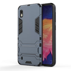Custodia Silicone e Plastica Opaca Cover con Supporto per Samsung Galaxy A10 Blu