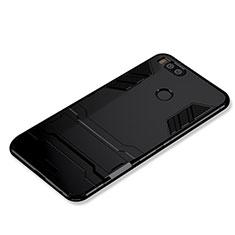 Custodia Silicone e Plastica Opaca Cover con Supporto per Xiaomi Mi A1 Nero