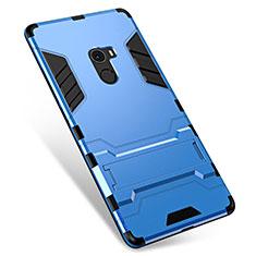 Custodia Silicone e Plastica Opaca Cover con Supporto per Xiaomi Mi Mix Blu