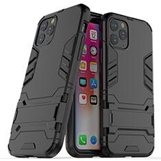 Custodia Silicone e Plastica Opaca Cover con Supporto R03 per Apple iPhone 11 Pro Nero