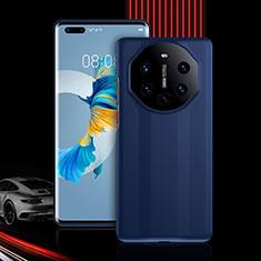 Custodia Silicone e Plastica Opaca Cover Fronte e Retro 360 Gradi R01 per Huawei Mate 40 Pro Blu