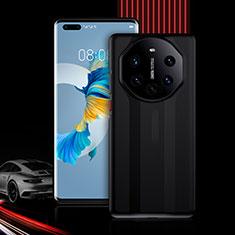 Custodia Silicone e Plastica Opaca Cover Fronte e Retro 360 Gradi R01 per Huawei Mate 40 Pro+ Plus Nero