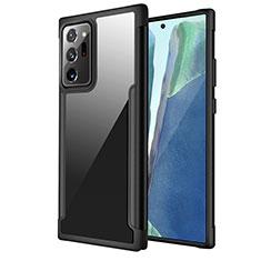 Custodia Silicone e Plastica Opaca Cover Fronte e Retro 360 Gradi R02 per Samsung Galaxy Note 20 Ultra 5G Nero