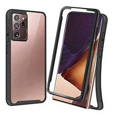 Custodia Silicone e Plastica Opaca Cover Fronte e Retro 360 Gradi R04 per Samsung Galaxy Note 20 Ultra 5G Nero