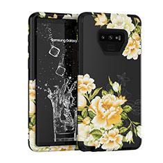 Custodia Silicone e Plastica Opaca Cover Fronte e Retro 360 Gradi U01 per Samsung Galaxy Note 9 Nero