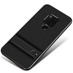 Custodia Silicone e Plastica Opaca Cover M01 per Huawei Mate 20 Nero