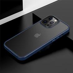 Custodia Silicone e Plastica Opaca Cover N01 per Apple iPhone 12 Pro Blu
