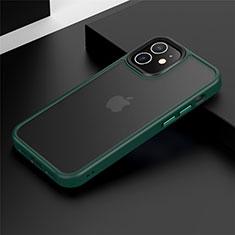 Custodia Silicone e Plastica Opaca Cover N01 per Apple iPhone 12 Verde
