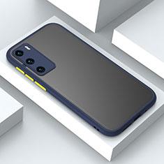 Custodia Silicone e Plastica Opaca Cover N02 per Huawei P40 Blu