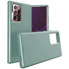 Custodia Silicone e Plastica Opaca Cover N02 per Samsung Galaxy Note 20 Ultra 5G Verde Notte