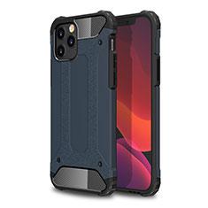 Custodia Silicone e Plastica Opaca Cover per Apple iPhone 12 Max Blu