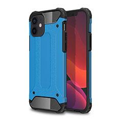Custodia Silicone e Plastica Opaca Cover per Apple iPhone 12 Mini Cielo Blu