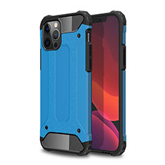 Custodia Silicone e Plastica Opaca Cover per Apple iPhone 12 Pro Cielo Blu