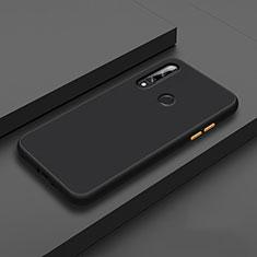 Custodia Silicone e Plastica Opaca Cover per Huawei Enjoy 10 Plus Nero