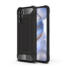 Custodia Silicone e Plastica Opaca Cover per Huawei Honor 30 Nero